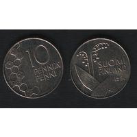 Финляндия km65 10 пенни 1991 год (M) (f311)