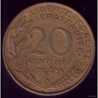 20 сантимов 1968 год Франция