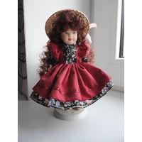 Кукла фарфоровая -( 18 см )