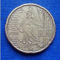 Франция 20 евроцентов 2009