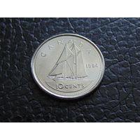 Канада 1994 г. 10 центов Елизавета II.