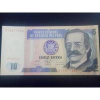 Перу 10 инти 1987г.