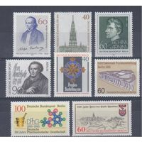 [1021] Германия.Зап.Берлин. 8 чистых  марок.(1)