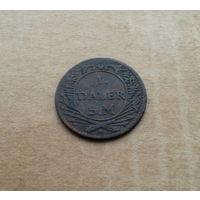 """Швеция, 1 далер 1718 г., из серии кредитных """"нотдалеров Гёрца"""""""