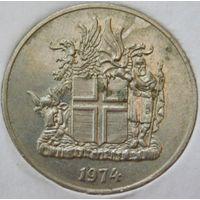 Исландия 10 крон 1974 год