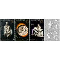 1975. Гибралтар серия Микеланджело. 500 лет.** Искусство Скульптура