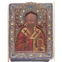 Икона Николай Чудотворец бисерный оклад. На подарок!