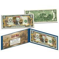 2 доллара Гражданская Война - Битва при Энтитеме (цветные в футляре с цветным сертификатом) UNC