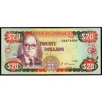 Ямайка  20 долларов 1991г.  Состояние UNC .    распродажа