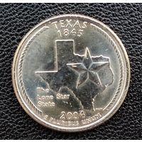 США Техас 25 центов 2004 г. D