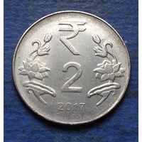 Индия 2 рупии 2017