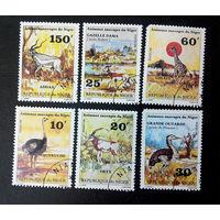 Нигер 1981 г. Дикие животные. Фауна, полная серия из 6 марок #0180-Ф1P42