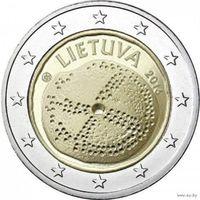 2 евро 2016 Литва Балтийская культура UNC из ролла