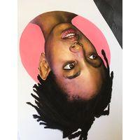 Портрет А4 (Willow Smith) гуашь, карандаш