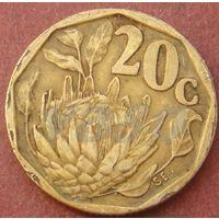 6073:  20 центов 1992 ЮАР