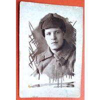 Фото красноармейца. 1940 г. 6х9 см.