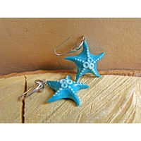 Серьги ручной работы с морскими звездами