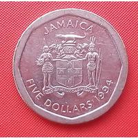 65-30 Ямайка, 5 долларов 1994 г.
