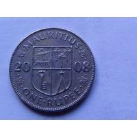 Маврикий.1 рупия 2008г.  распродажа