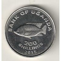 Уганда 200 шиллинг 2015