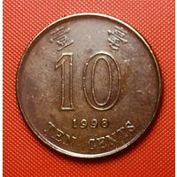 29-16 Гонконг, 10 центов 1998 г.