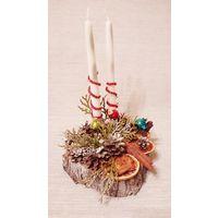 Экспозиция Новогодняя со свечами