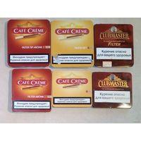Жестяные коробки от сигарилл сигарет в коллекцию
