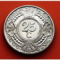 118-26 Антильские острова, 25 центов 2014 г. Единственное предложение монеты данного года на АУ