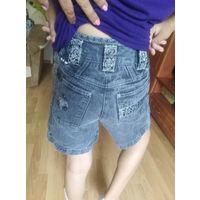 Шорты джинс на модную девочку рост 147
