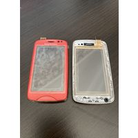 Sony Ericsson TXT Pro (CK15i) - Front Cover + Touchscreen Pink (A/8CS-23250-0003)
