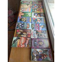 Видеокассеты с кино музыкой мультфильмами , все запечатанное