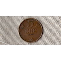 Норвегия 5 оре/эре 1928 /(ОI)