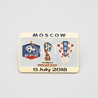 Футбол - Значки из набора ЧМ 2018 Франция - Хорватия ФИНАЛ
