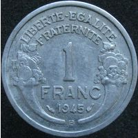 F.221-7 1 франк 1945 В нечастая