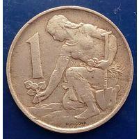 1 крона 1982 Чехословакия КМ# 50 алюминиевая бронза