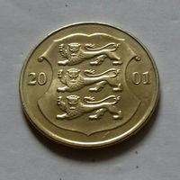 1 крона, Эстония 2001 г.