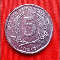 44-02 Восточные Карибы, 5 центов 2002 г.