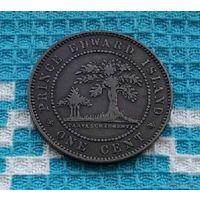 Великобритания (Канада) остров Принца Эдварда 1 цент 1871 года. Королева Виктория.