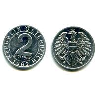 Австрия 2 гроша 1982 состояние
