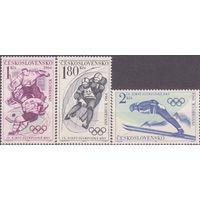 Чехословакия. 1964. 1447-1449. Спорт. Олимпийские игры. Инсбрук.** (СЛ2