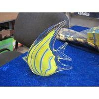 Рыбка, цветное стекло, 14 см.