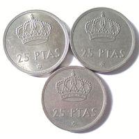 Испания, 25 песет 1975 (77, 79, 80)