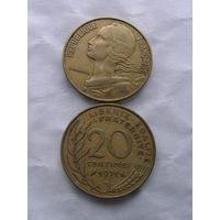 Франция 20 сантим 1971г  распродажа