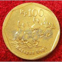 7586:  100 рупий 1998 Индонезия