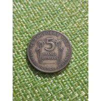 Гвинея 5 франков 1958 г