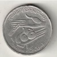 Тунис 1/2 динар 1997