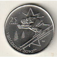 Канада 25 цент 2007 XXI зимние Олимпийские Игры, Ванкувер 2010 Горные лыжи