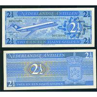 Антилы 1970  2 1/2 гульдена UNC