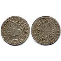 Полугрош 1509, Жигимонт Старый, Вильно. Окончания легенд: Ав - ':1509', Рв - 'LITVANIE:'