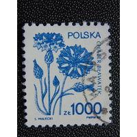 Польша 1989 г. Флора.